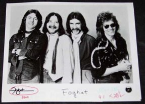 Foghat - Self Titled Foghat 8 X 10 Promo Photo