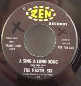 Pastel Six - A Sing A Long Song / Strange Ghost Vinyl 45 7