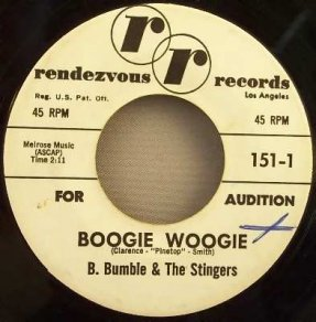 B. Bumble & The Stingers - Boogie Woogie / Near You 45 Promo