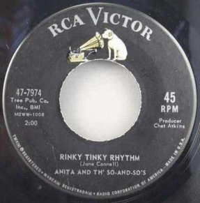 Anita And Th\' So and So\'s - Rinky Tinky Rhythm / Joey Baby 45