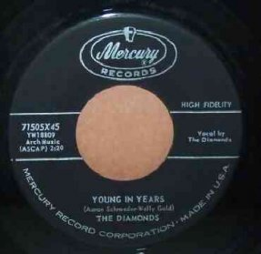 Diamonds - Young In Years / Twenty Second Day Vinyl 45 7