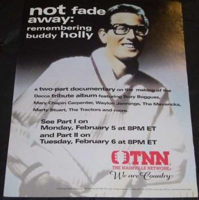 Holly, Buddy - Not Fade Away Remembering Buddy Holly Trade Ad