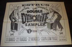 Various Artists - Estrus Double Dynomite Sampler Promo Poster