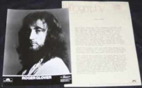 Glover, Roger - Elements Promo Press Kit W/Photo