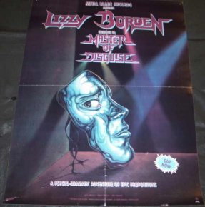 Lizzy Borden - Master Of Disguise 1989 Promo Poster