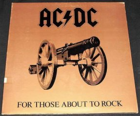 AC/DC - For Those About To Rock Vinyl LP
