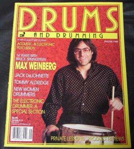 Drums and Drumming Magazine Jan/Feb 1988 Max Weinberg
