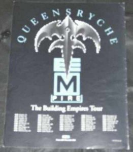 Queensryche - Building Empires Tour 1991 Trade Ad