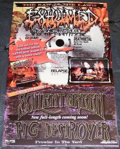 Exhumed - Slaughtercult Double Sided Promo Poster BW Mortician