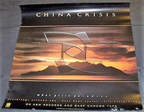 China Crisis - What Price Paradise 1987 Promo Poster