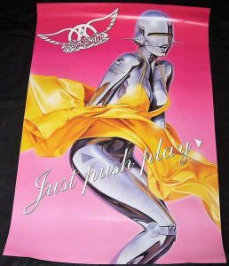 Aerosmith - Just Push Play Double Sided Promo Poster