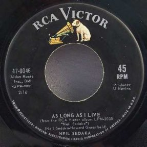 Sedaka, Neil - Breaking Up Is Hard To Do / As Long A I Live 45
