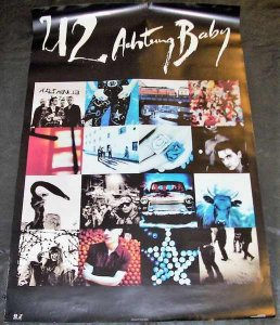 U2 - Achtung Baby 1991 Promo Poster