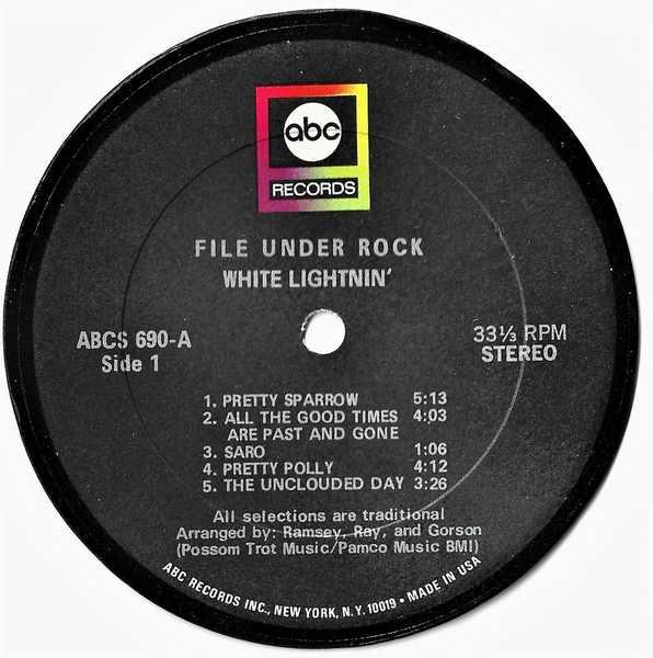 WHITE LIGHTNIN - File Under Rock - Sous-Boque