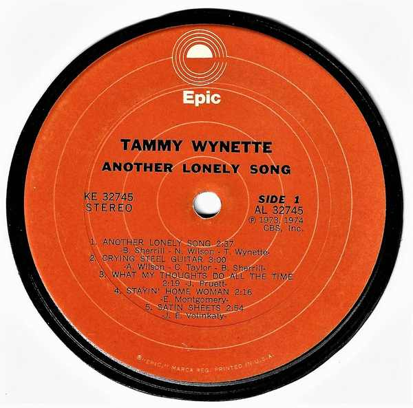 WYNETTE,  TAMMY - Another Lonely Song - Sous-Boque