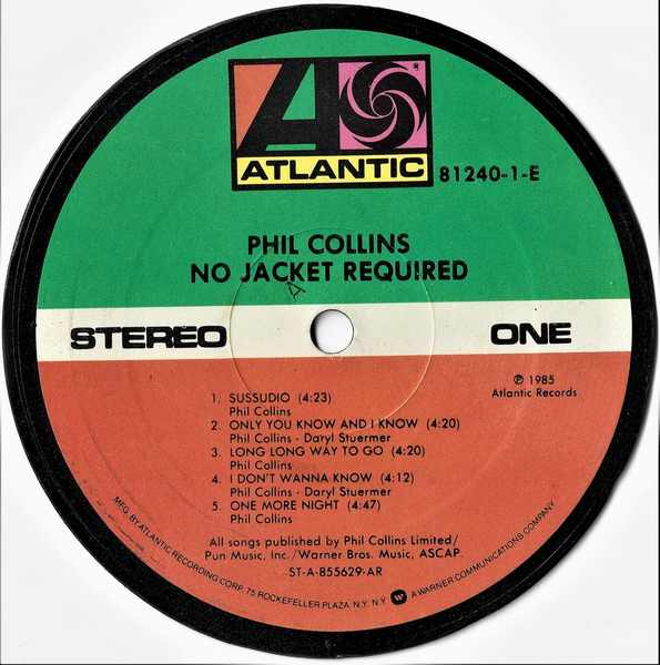 COLLINS,  PHIL - No Jacket Required - Sous-Boque