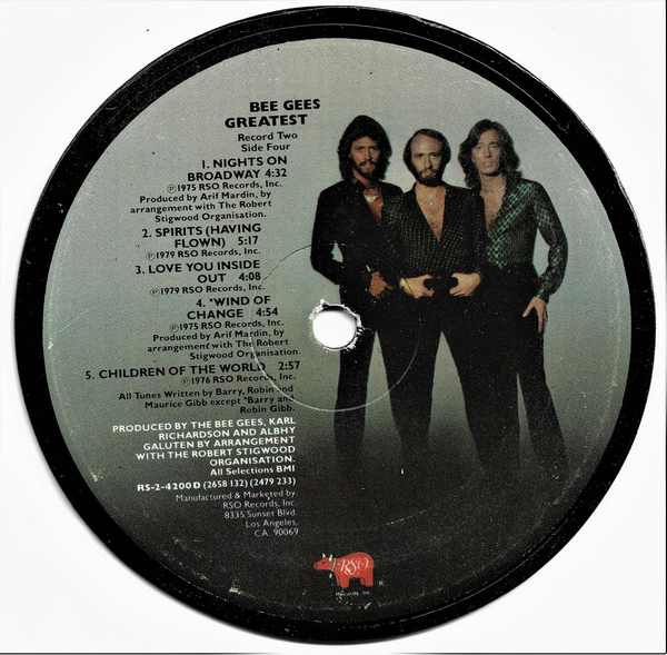 BEE GEES - Bee Gees Greatest Hits - Sous-Boque