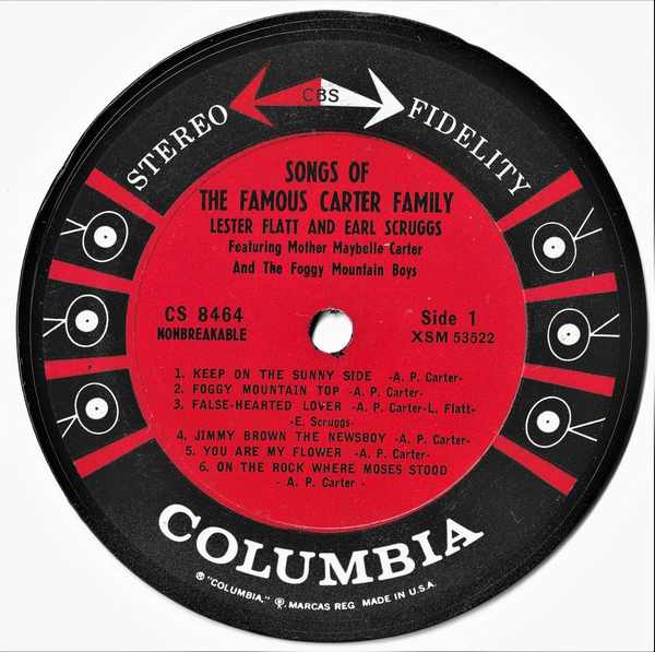 FLATT,  LESTER AND EARL SCRUGGS - Songs of The Famous Carter Family - Sous-Boque