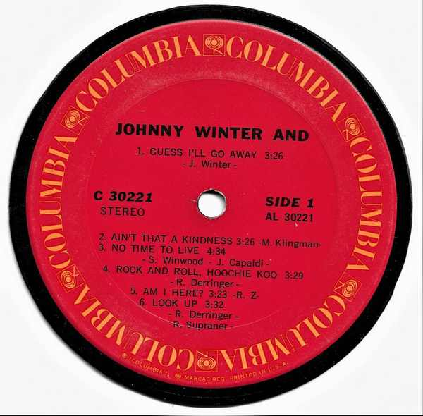 WINTER,  JOHNNY - Johnny Winter And - Sous-Boque