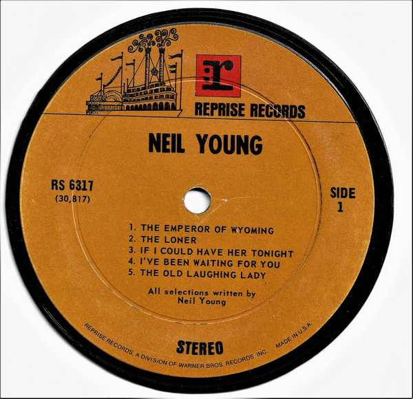 YOUNG,  NEIL - Self Titled Neil Young - Sous-Boque