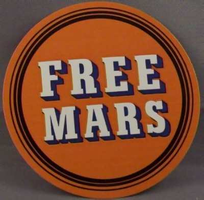 LUSK - Free Mars - Sticker