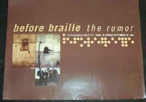 BEFORE BRAILLE - The Rumor - Poster / Affiche