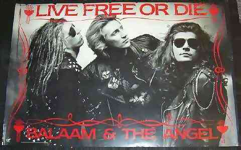 BALAAM & THE ANGEL - Live Free Or Die - Poster / Affiche