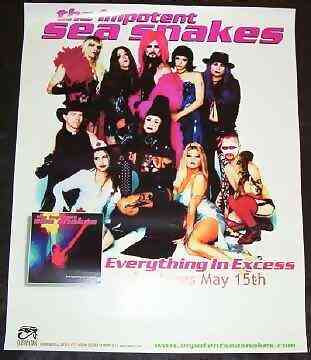 IMPOTENT SEA SNAKES - Everything In Excess - Poster / Affiche