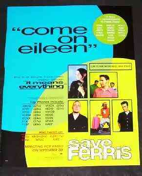 SAVE FERRIS - Come On Eileen - Autres
