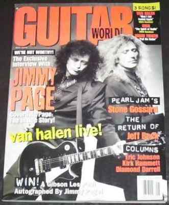 GUITAR WORLD MAGAZINE - May 1993 Jimmy Page / David Coverdale - Magazine