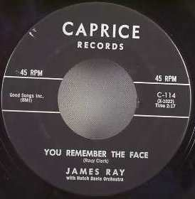 Ray, James - You Remember The Face / Itty Bitty Pieces Vinyl 7