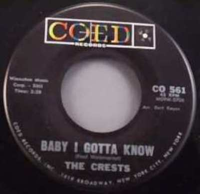 crests little miracles / baby i gotta know