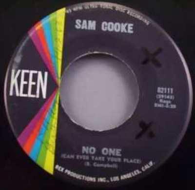 COOKE,  SAM - No One / 'T Aint Nobody's Bizness - 7inch x 1