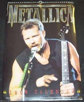 METALLICA - 1998 Calendar - Calendrier