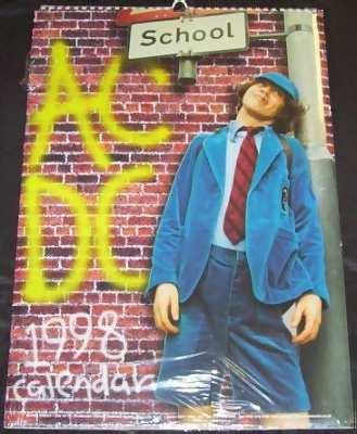 AC/DC - 1998 Calendar - Calendrier