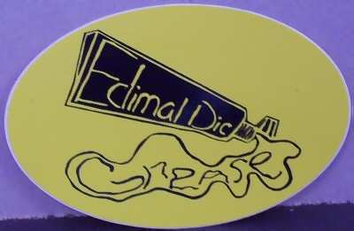 EDIMAL DIC GREASE - Self Titled Edimal Dic Grease - Sticker