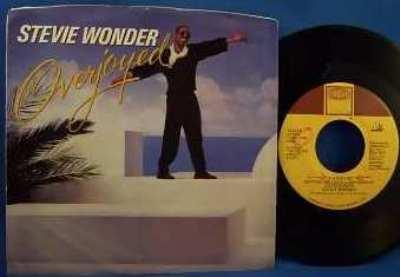 WONDER,  STEVIE - Overjoyed W/PS - 7inch x 1