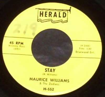 WILLIAMS,  MAURICE & THE ZODIACS - Stay / Do You Believe - 45T x 1