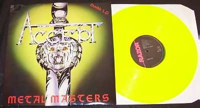 Accept - Metal Masters Vinyl LP Yellow Vinyl - Click Image to Close