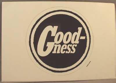 GOODNESS - Self Titled - Sticker