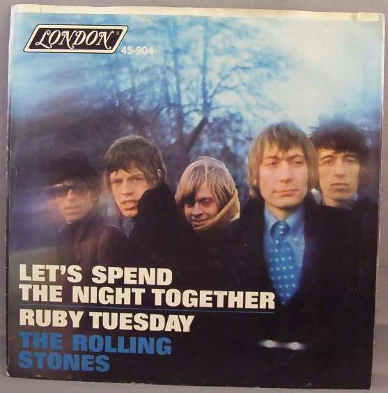 rolling stones let's spend the night together / ruby tuesday  w/ps