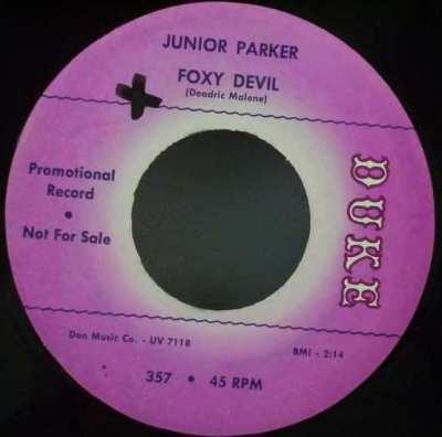 PARKER,  JUNIOR - Someone Somewhere / Foxy Devil - 7inch x 1