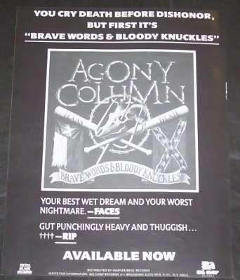 AGONY COLUMN - Brave Words & Bloody Knuckles - Autres