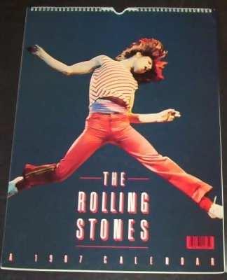 ROLLING STONES - 1987 Calendar - Calendrier