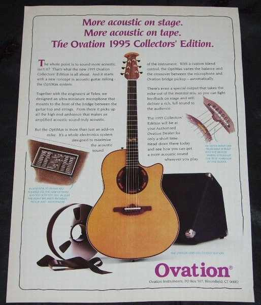 OVATION GUITARS - 1995 Collectors Edition Guitar - Others