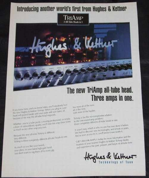 HUGHES & KETTNER - TriAmp 1995 Guitar World Magazine Ad - Others