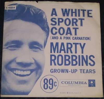 robbins,  marty a white sport coat (picture sleeve)