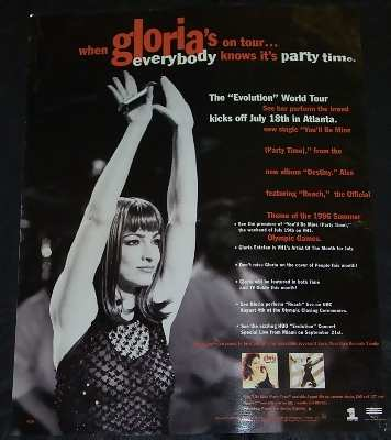 ESTEFAN,  GLORIA - Evolution World Tour 1996 - Others