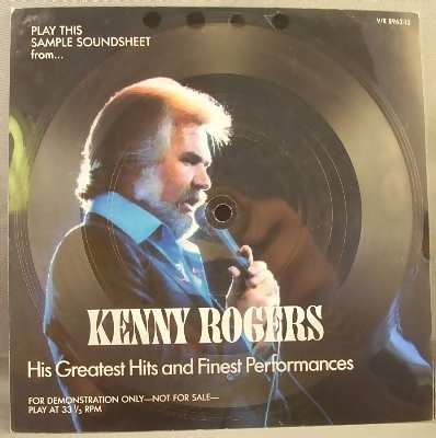 ROGERS,  KENNY - His Greatest Hits & Finest Performances - 7'' 1枚