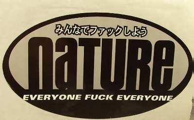NATURE - Everyone F**k Everyone - Sticker